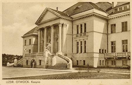 Kasyno na przedwojennej pocztówce z Uzdrowiska.